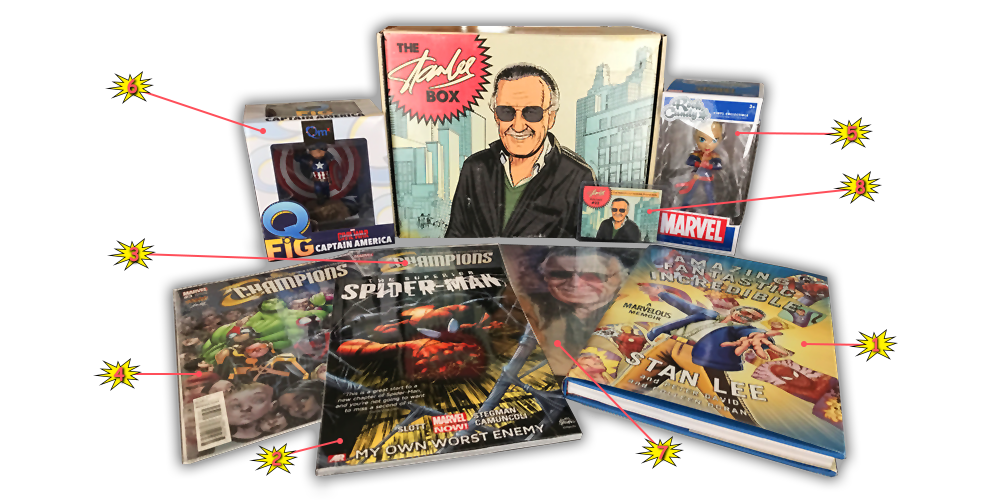 The Stan Lee Box - Debut Box Reveal - Contents