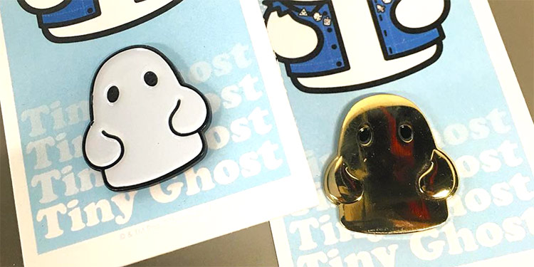 BimToy - Enamel Pins - Tiny Ghost