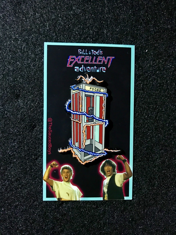 Sauced Boys - Bill and Ted's Excellent Phone Booth - Enamel Pin