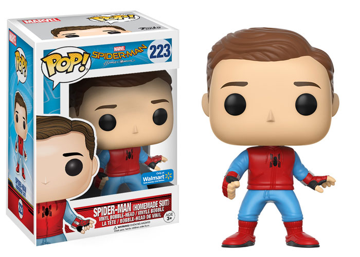 funko-pop-spiderman homecoming-spidey-handmadesuit-unmasked proto suit-hot topic-exclusive