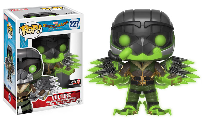 funko-pop-spiderman homecoming-vulture-green glow-gamestop-exclusive