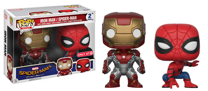 funko-pop-spidermanhomecoming-2pack-iron man-spiderman-target-exclusive