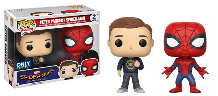 funko-pop-spidermanhomecoming-2pack-peter parker-homemadesuit-best buy-exclusive