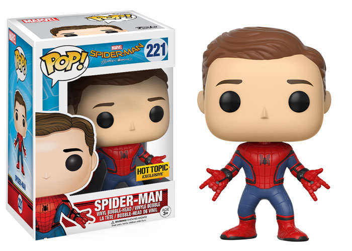 funko-pop-spidermanhomecoming-spidey-unmasked-hot topic-exclusive