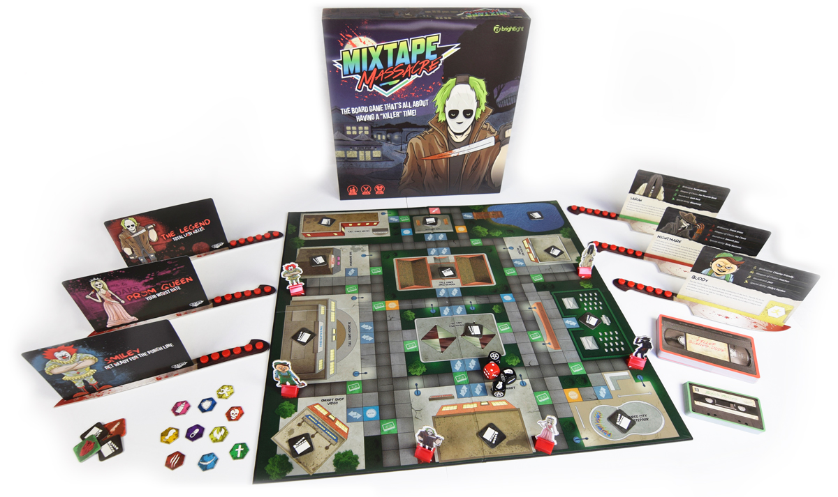 Mixtape Massacre REVIEW - board game layout
