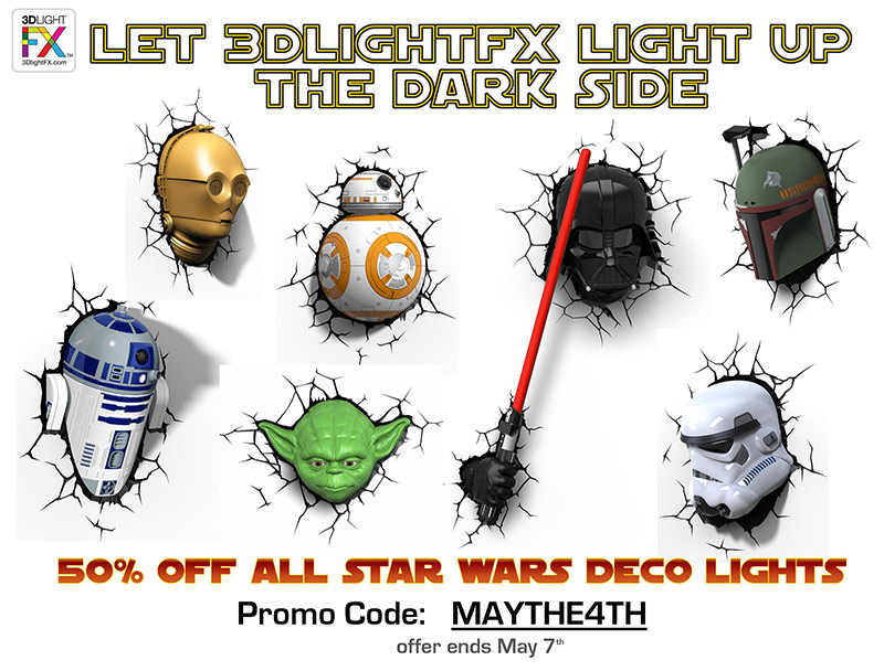 3D Deco Lights - Star Wars Collection - 3D Light FX - Deal