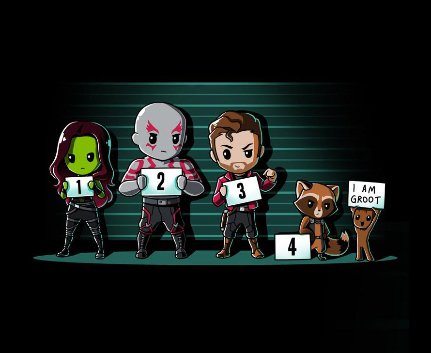 Guardians of the Galaxy - Line Up - Shirt