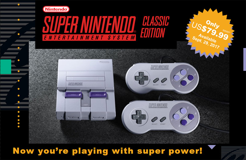Super NES Classic - Console and Controllers
