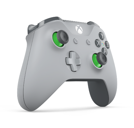Video games - Microsoft - Xbox controllers - wireless - green grey