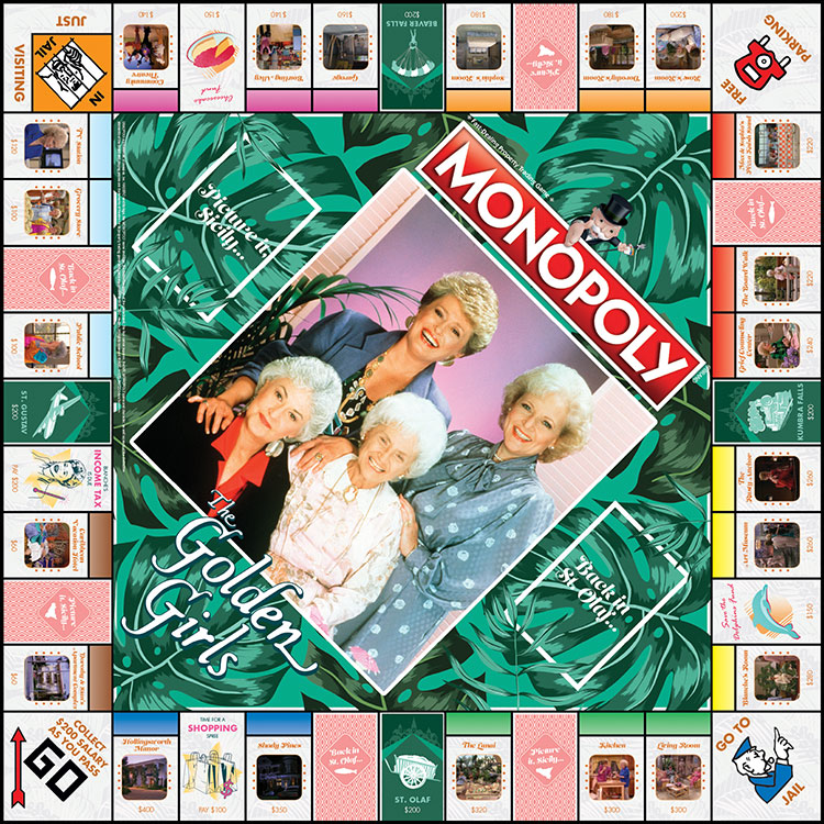 Golden Girls Monopoly - Board