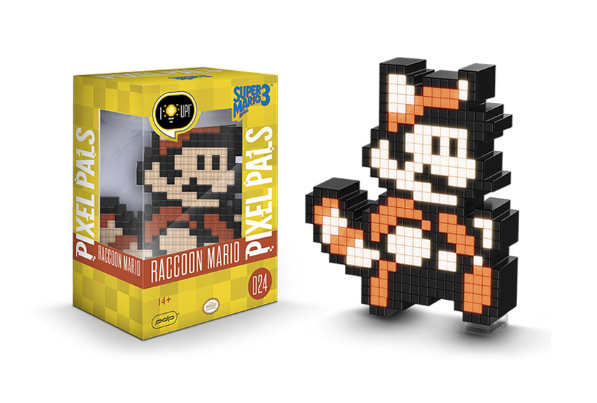 Raccoon Mario - Pixel Pals - Light Up