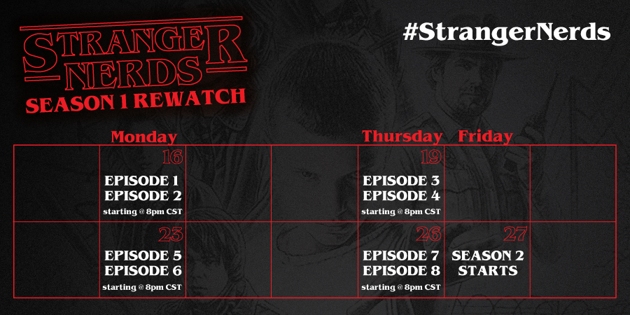 Stranger Things - Season 1 - Rewatch Calendar