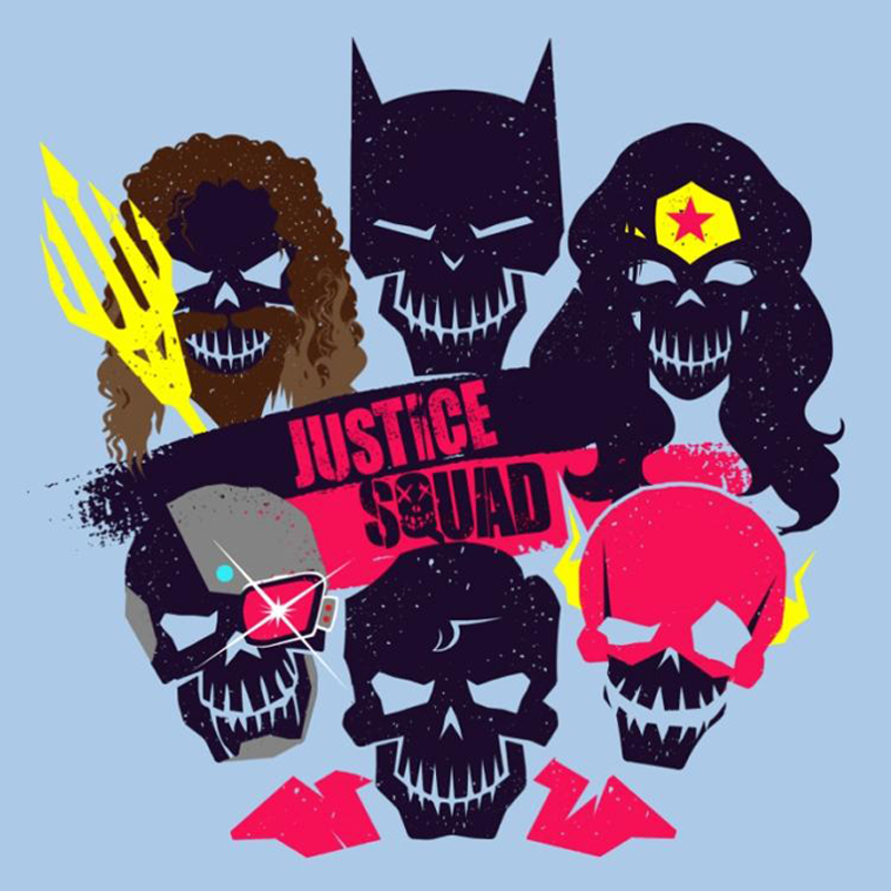 Justice Squad - T-Shirt by artist JaiHai