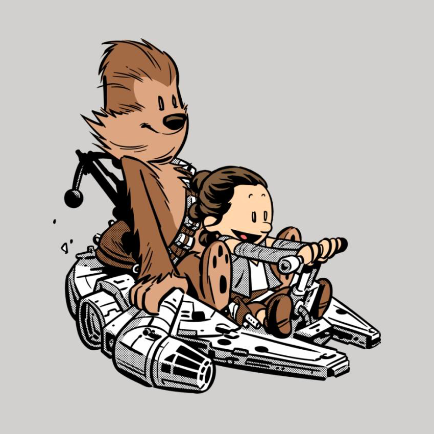 The New Pilot - Rey - Chewbacca - Chris Wahl