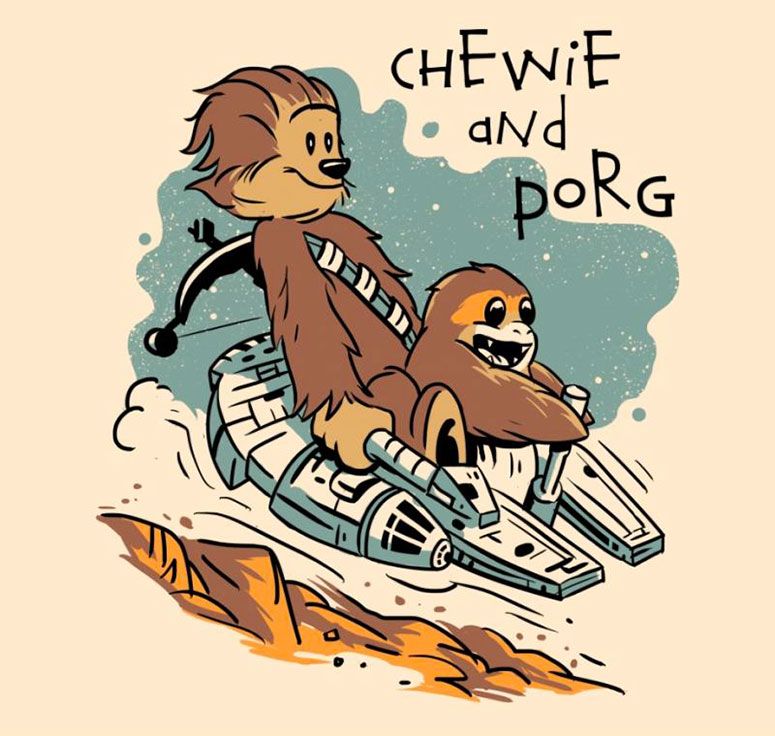 Chewie and Porg - Tee - artist: vptrinidad