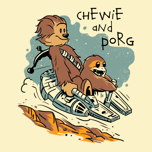 Chewie and Porg - Shirt - Vincent Trinidad