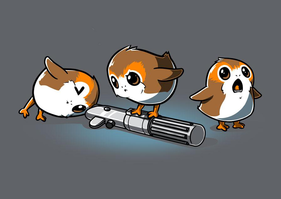 Curious Porgs T-Shirt from TeeTurtle