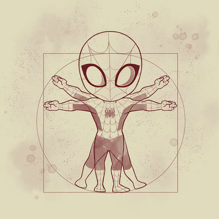 Vitruvian Spider-Man - Shirt via TeeTurtle
