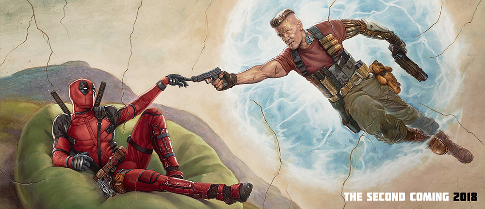 Deadpool 2 Cover - painting