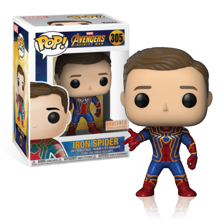 Iron Spider - Unmasked - Box Lunch - Exclusive - Funko Pop!