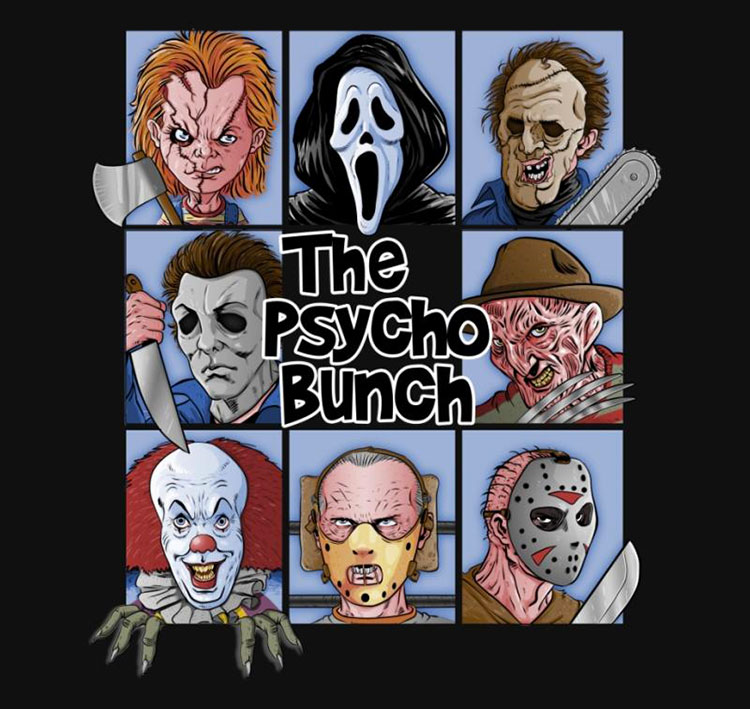 The Psycho Bunch - TShirt - artist: Skullpy