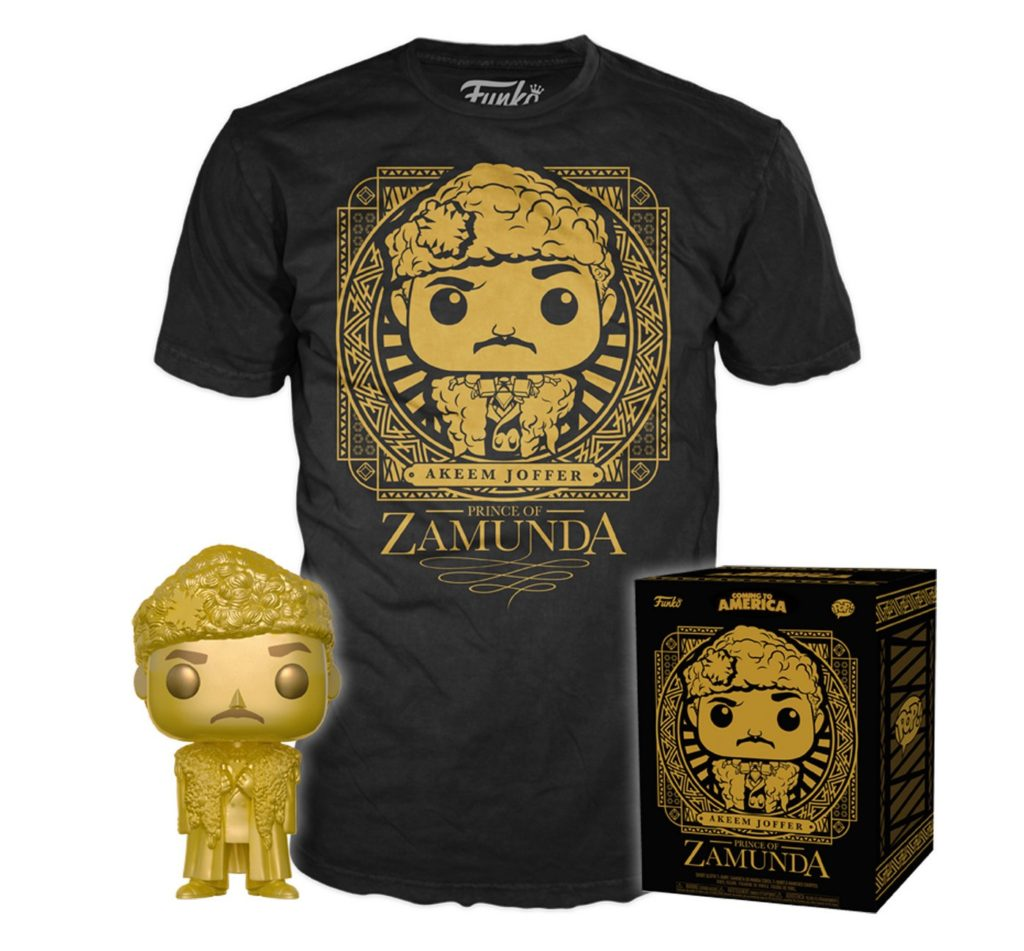 Coming to America - Gold Prince Akeem - TShirt - Funko Pop! - Exclusive