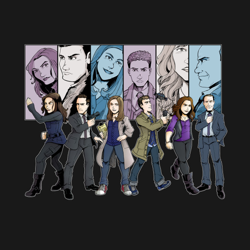 Agent Line Up T-Shirt by artist PageBranson