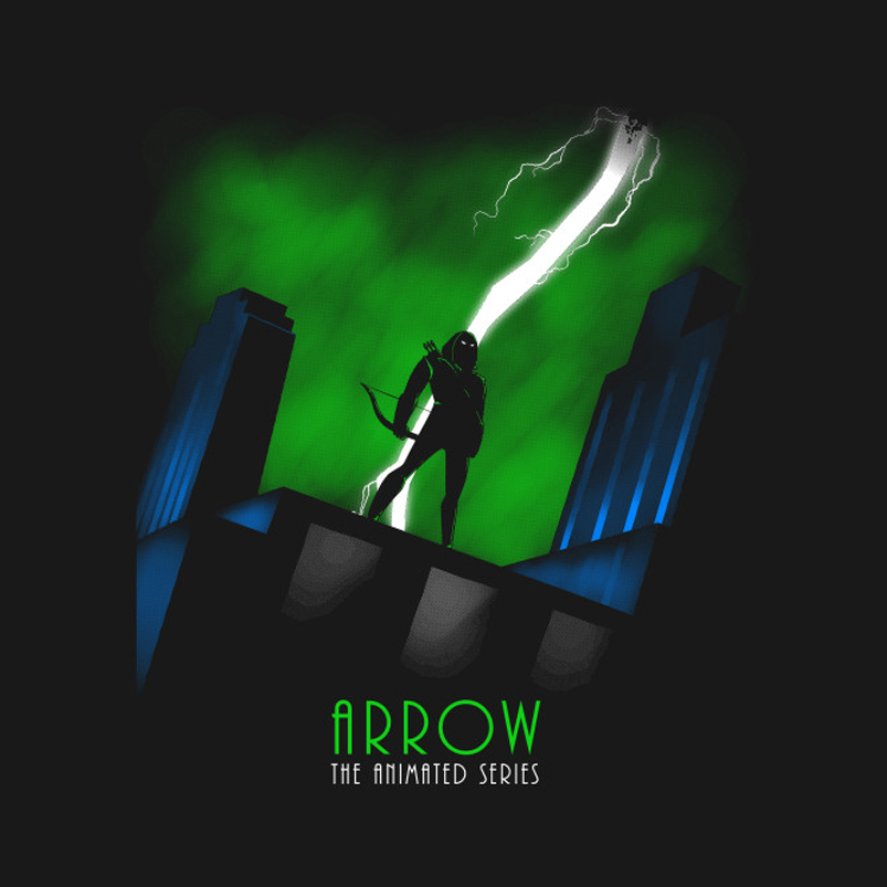 Arrow The Animated Series T-Shirt by artist TeeKetch